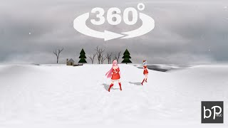 VR 360 Video - Merry Christmas - Jingle bell - 360 Degrees Video VR [MMD]