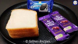 5 Minute Bread Cake With Oreo  Bread Cake Recipe Without Oven  No Bake Oreo Cake  Oreo Cake Oreo