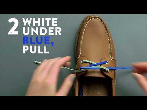Как завязывать шнурки на мокасинах