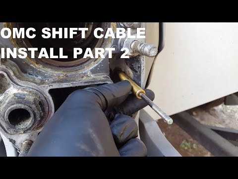 How To Replace A Volvo Penta 280 285 290 Shift Cable Doovi