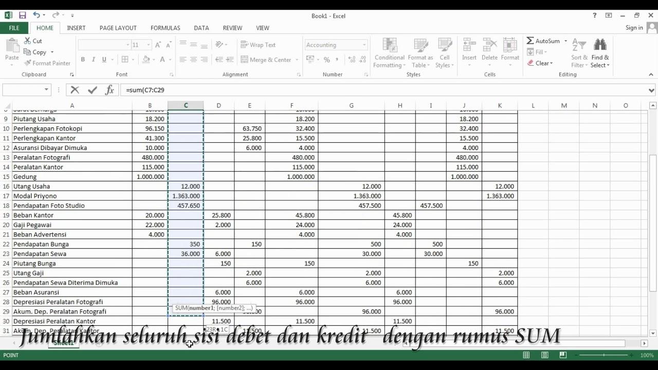 Membuat Laporan Laba Rugi Dengan Rumus Excel Sederhana Youtube