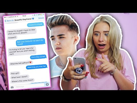 SONG LYRIC TEXT PRANK ON MY BOYFRIEND!!!