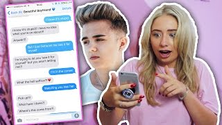 One of Saffron Barker's most viewed videos: SONG LYRIC TEXT PRANK ON MY BOYFRIEND!!!