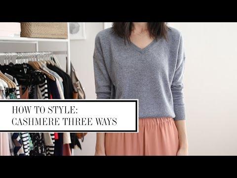 Cashmere Worn Three Ways - How To Style | Mademoiselle