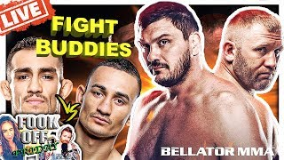 🔴TONY FERGUSON VS MAX HOLLOWAY?! + BELLATOR 215 MITRIONE VS KHARITONOV LIVE FIGHT REACTION!