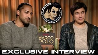 Mahesh Jadu and Remy Hii Interview - Netflix's Marco Polo (HD) 2014