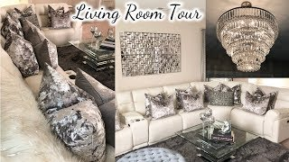 Glam Living Room Tour! | New Lamps Plus Light Fixtures