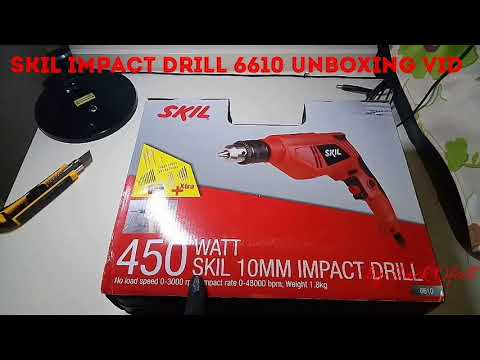 SKIL 6610 10MM IMPACT DRILL UNBOXING VIDEO