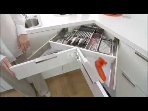 blum space corner cabinet drawer system youtube. Black Bedroom Furniture Sets. Home Design Ideas