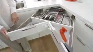 Blum Space Corner Cabinet Drawer System.