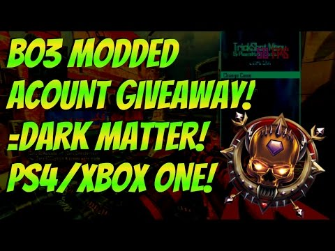 BO3 FREE 10 MODDED ACOUNT GIVEAWAY!