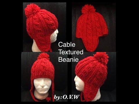 Cable Texture Beanie Part 1