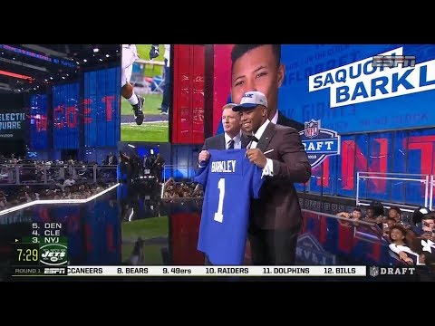 Giants Select RB Saquon Barkley With 2nd Overall Pick | 2018 NFL Draft | Apr 26, 2018