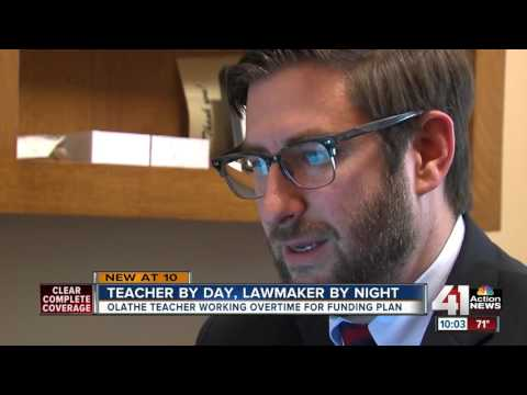 Olathe teacher working overtime for funding plan