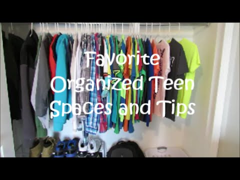 Organized Teen Closet And Bathroom