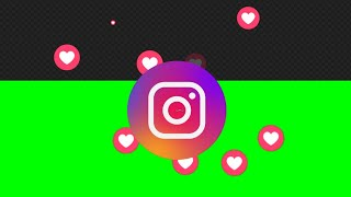 Instagram Logo Like    Green Screen, Alpha Channel Animation    Free Download