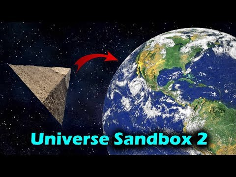 Dropping a Pyramid From Orbit [And at lightspeed] – Universe Sandbox 2