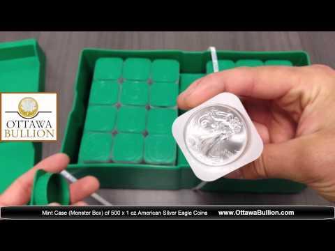 Monster Box of American Silver Eagle Coins  -  buy physical bullion ottawa