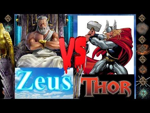 Zeus (Greek Mythos) vs Thor (Marvel Comics) - Ultimate Mugen Fight 2016