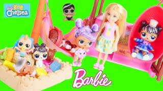 Barbie Chelsea Tiki Hut Morning Routine and Opening LOL Surprise Fuzzy Lils
