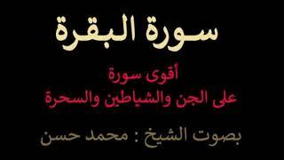تلاوة من (سورة البقرة) .. بصوت الشيخ محمد حسن .. أقوى رُقية على الجن والشياطين والسحرة
