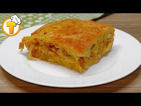 Очень простой Пирог с капустой. (Рецепт для ленивых.)