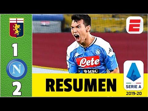 GOL del Chucky Lozano le da la victoria al equipo de Gattuso | Genoa vs Napoli RESUMEN Serie A