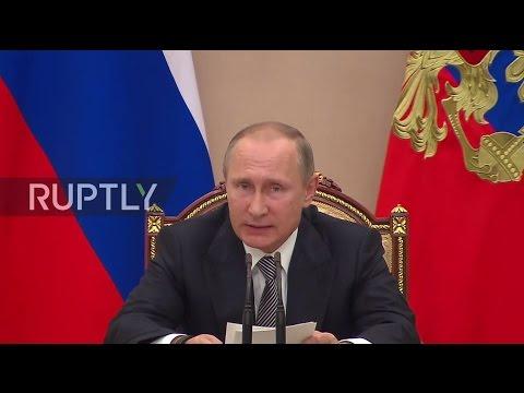 Russia: 'Economy is gradually overcoming the recession' - Putin