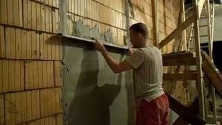 Штукатурка стены по маякам(Сайт - http://vannajapodkljuch.ru Фейсбук - https://www.facebook.com/remont.vannoj Извиняюсь за качество, но суть ясна - установка маяков..., 2011-11-04T03:27:41.000Z)