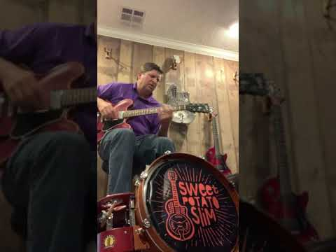 Dirty Driving Electric Slide Guitar Jam:  Gibson ES335 and Farmer Foot Drum
