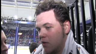 Jake Dotchin first intermission interview | Jan. 30, 2015