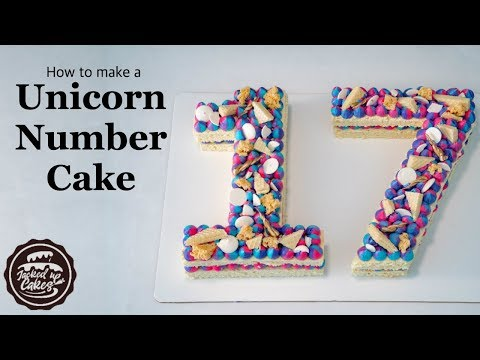 How to make a UNICORN MODERN NUMBER CAKE | Jacked Up Cakes with Jack Rogers