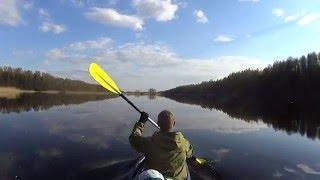Майский сплав на байдарках по реке Оредеж(Открытие сезона водных походов 2016. Music:
