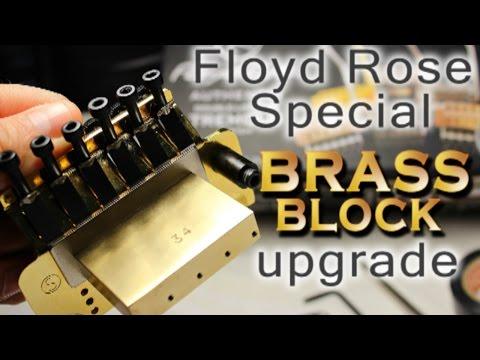 Floyd Rose Special (Gold) BRASS Tone Block Upgrade DIY