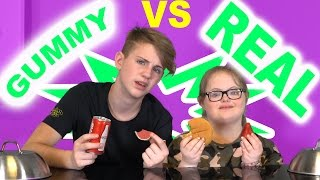 gummy food vs real food challenge sarah grace vs mattybraps