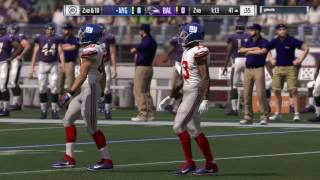 Madden 17 NFL New York Giants vs Baltimore Ravens