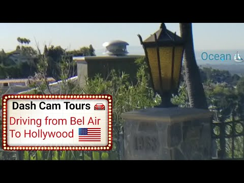 Dash Cam Tours 🚘 Driving from the top of Stradella Road to Hollywood Walk of Fame