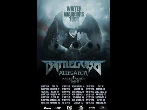 Battlecross, Allegaeon and Necromancing The Stone 2016 'Winter Warriors Tour'!