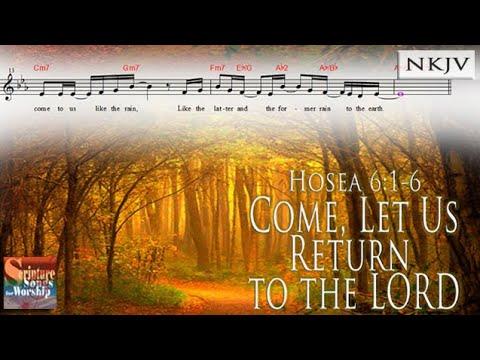 Hosea 6:1-6 Song (Music Score Video)