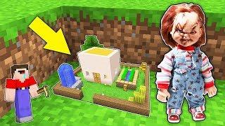 Мир уменьшился Нуб в 1 блок и Кукла Чаки в Майнкрафт ! Самая маленькая деревня жителей !