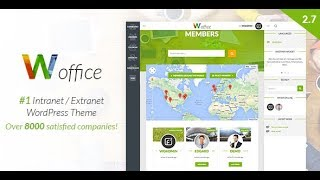 Woffice Wordpress Theme Review & Demo | Intranet/Extranet WordPress Theme | Woffice Price & How to Install