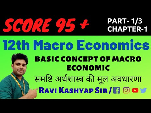 Basic concept of macroeconomic class 12 ,Chapter-1, Part-1 , What is Macro Economics