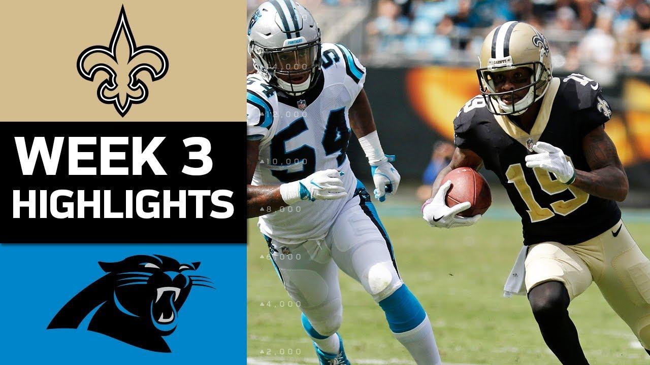 Saints Vs Panthers Nfl Week 3 Game Highlights