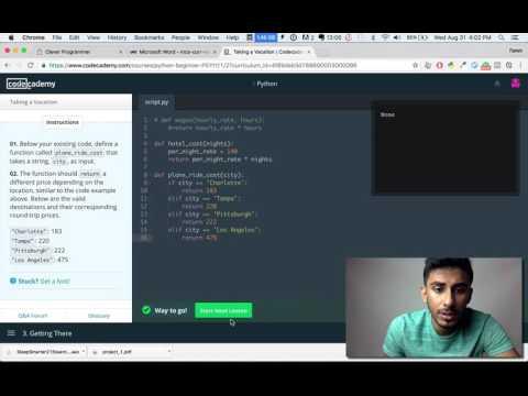 Codecademy - Python: Tutorial #6