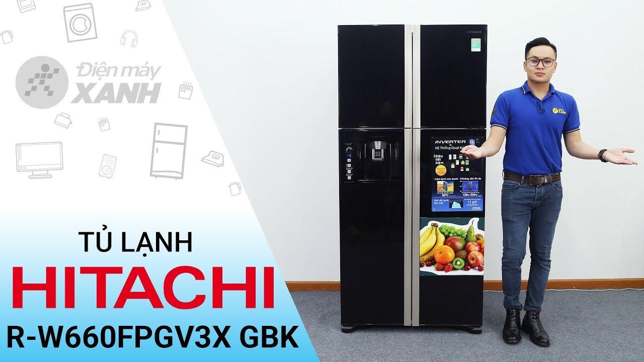 Tủ lạnh Hitachi 540 lít R-W660FPGV3X GBK – Cao to đen mạnh mẽ | Điện máy XANH
