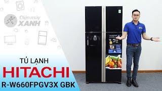 Tủ lạnh Hitachi 540 lít R-W660FPGV3X GBK - Cao to đen mạnh mẽ | Điện máy XANH