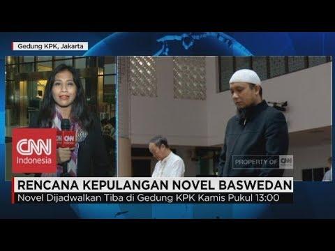 KPK Siap Menyambut Novel Baswedan; Live Report