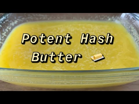Potent Hashish/Pollen Canna Butter Recipe.
