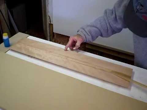 Removing Wood Veneer Tape Youtube