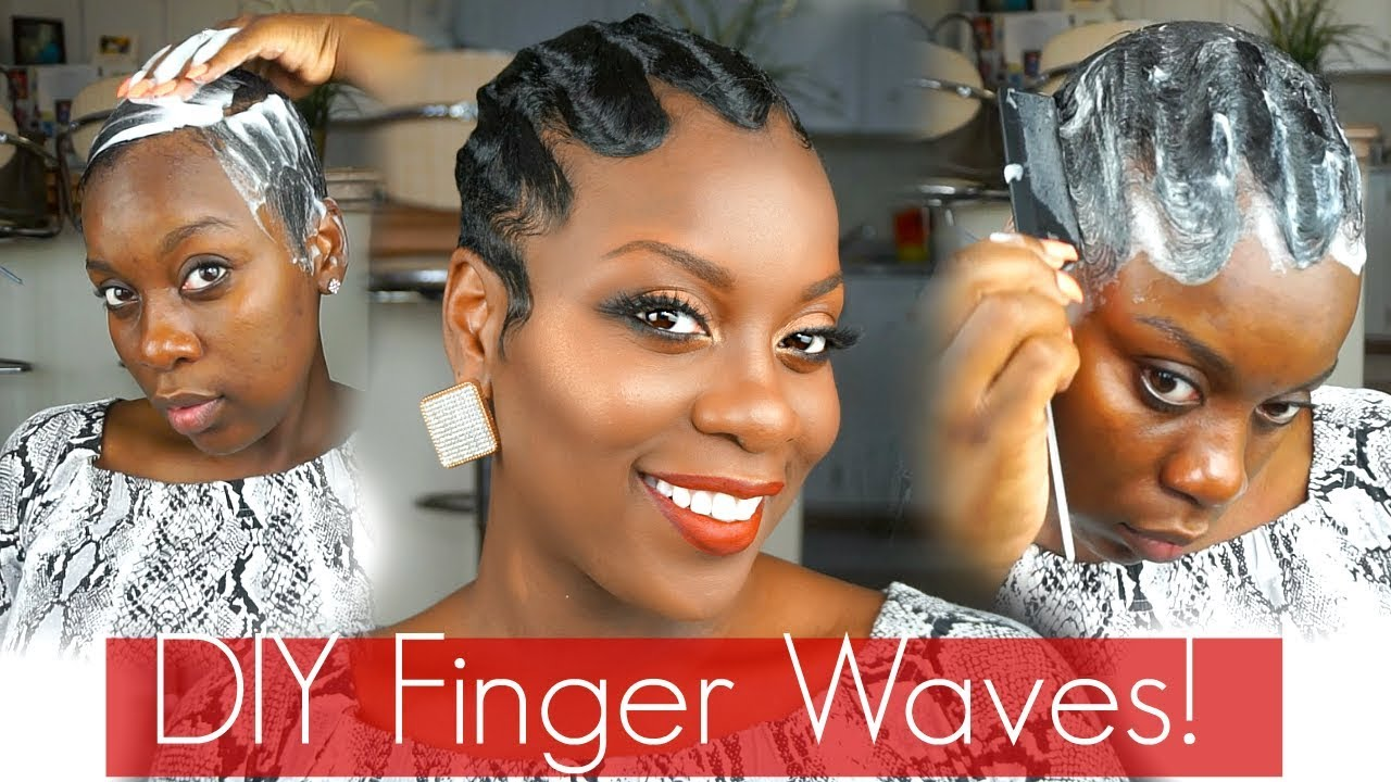 classy finger waves!| mold n' go!|short hair tutorial